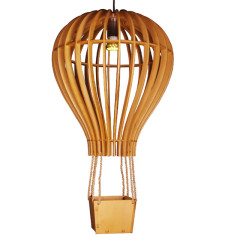 Parachute wood pendant lamp
