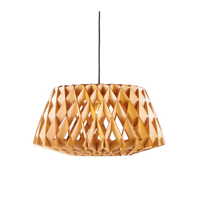 Cage decorative wooden pendant lamp