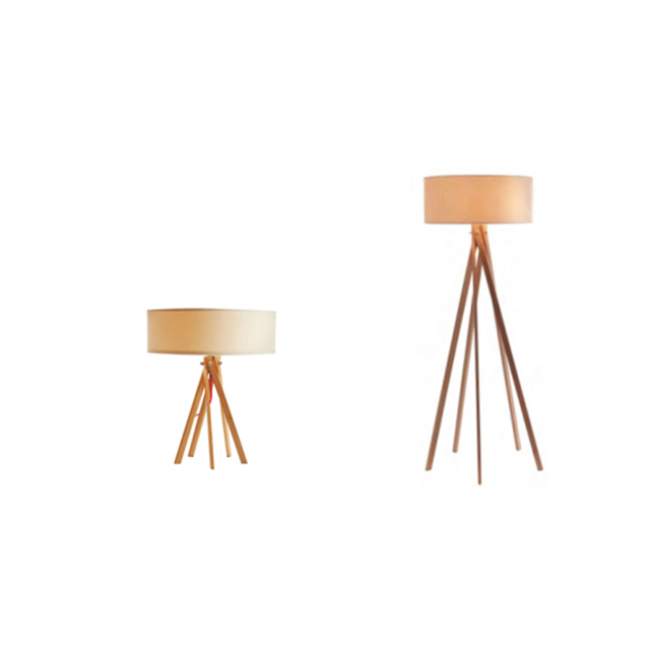 Nordic style wooden table lamps