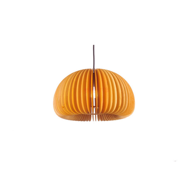 Apple wood pendant lamp
