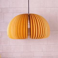Apple wood pendant lamp