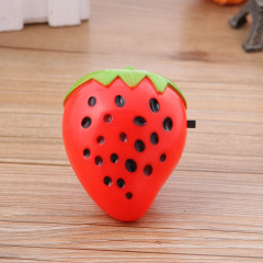 Factory direct selling night market source hot selling creative strawberry small night light stall selling new strange switch energy saving lamp