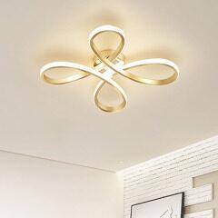 Northern Europe style lighting Net red modern simple LED ceiling lamp creative flower bedroom lamp warm room lamp