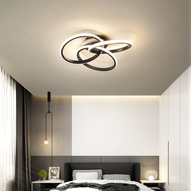 New bedroom lamp LED light luxury fashion ceiling lamp flower shaped daughter room lamp art aluminum lamp wholesale