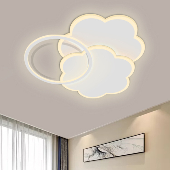 Led fancy room light simple modern ceiling light creative personality acrylic warm romantic bedroom light