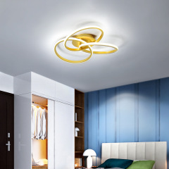 New bedroom lamp LED light luxury fashion ceiling lamp flower shaped daughter room lamp art aluminum lamp wholesale