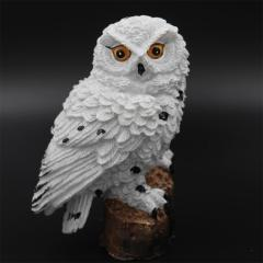 Amazon popular owl resin solar lamp waterproof LED garden decoration landscape lawn lamp